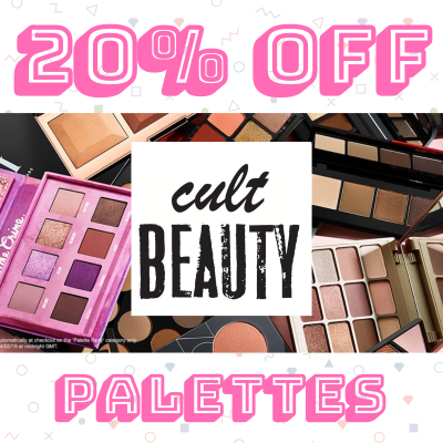 20% off Palette Party at Cult Beauty