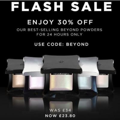 Flash 30% off Illamasqua's Beyond Powders