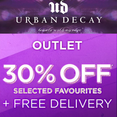 30% off selected favs at the Urban Decay outlet
