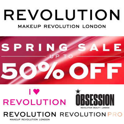 Revolution Sping sale - up to 50% off