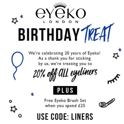 20% off Eyeko Eyeliners