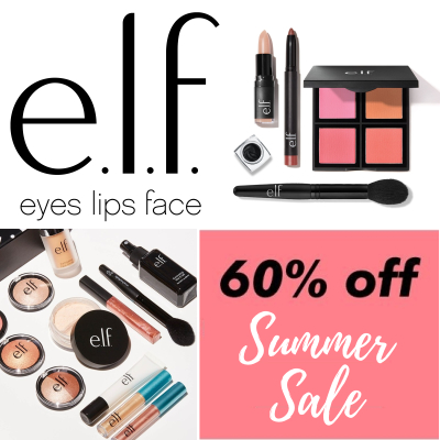 e.l.f summer sale - up to 60% off