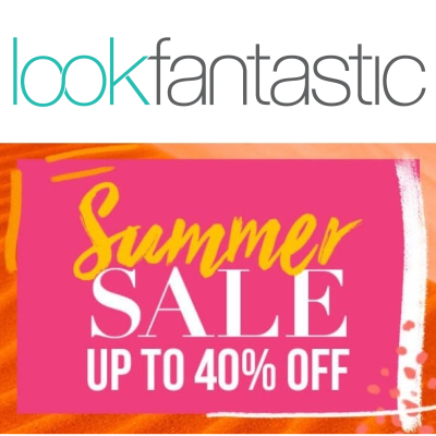 Lookfantastic Summer sale - up to 40% off