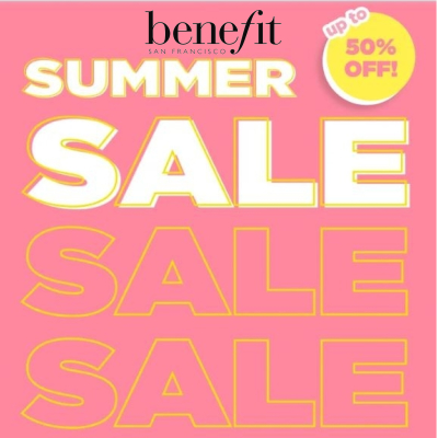 Benefit up to 50% off Summer Sale