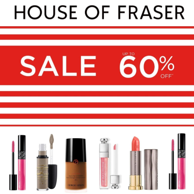 Up to 60% off Beauty & Makeup