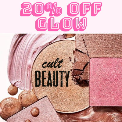 20% off products that make you Glow at Cult Beauty