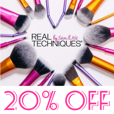 20% off Real Techniques