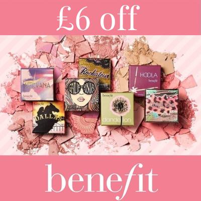 £6 off Benefit  box 'o powders