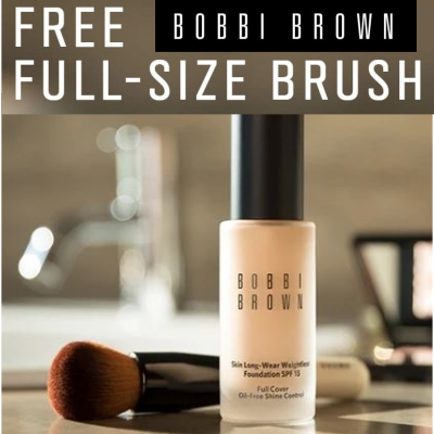 Free full size Full Cover Brush worth £33 when you buy any foundation.