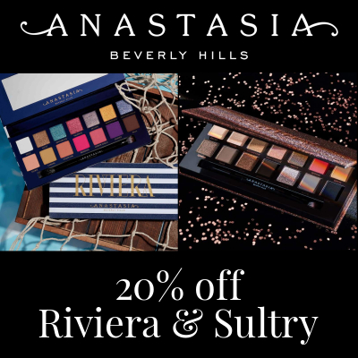 20% off Anastasia Beverly Hills Riviera and Sultry Palettes