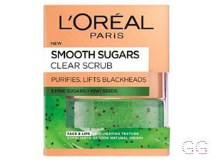 L'Oreal Smooth Sugar Clear Kiwi Face & Lip Scrub